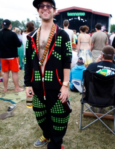 Dose Man wore a onezy, also totes appropriate for anything/anywhere.