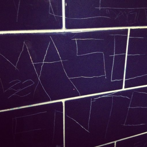 On this evening I found a Mase tribute on the walls of The Echo's bathroom.  I miss puffy jumpsuit era Mase.