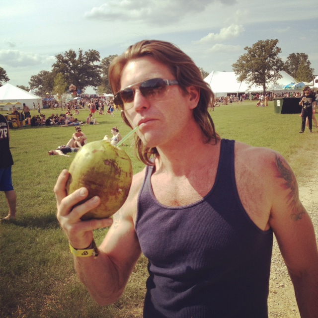 """Perfect Hippie Says """"a coconut a day keeps sunstroke away!"""""""