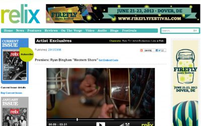 "Premier: Ryan Bingham ""Western Shore"" on Relix.com"