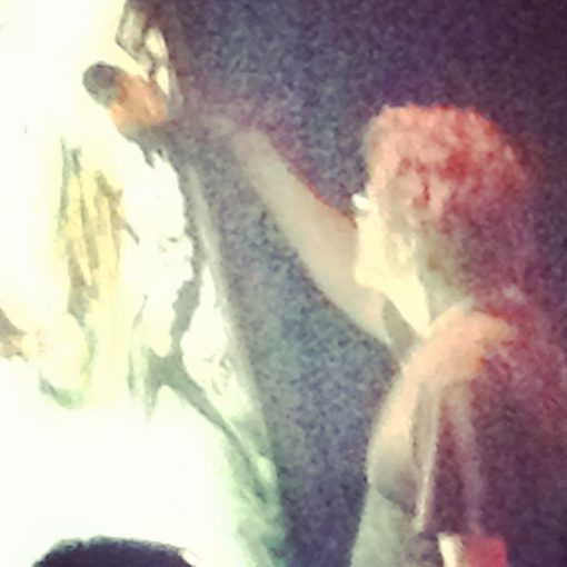 Oh yeah, the ghost of Jerry was in the building doing some live painting.  That was heady.