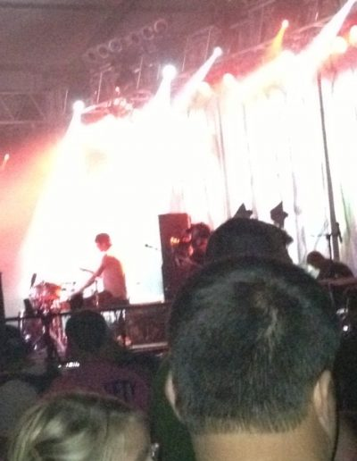 Alt J and some dude's head.