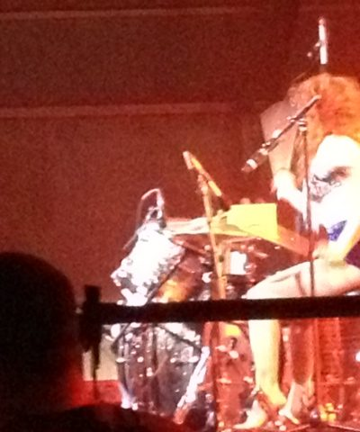 Deap Vally + some dude's head.