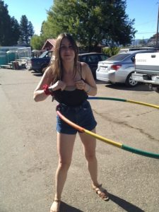 Obligatory hula hoop girl photo.