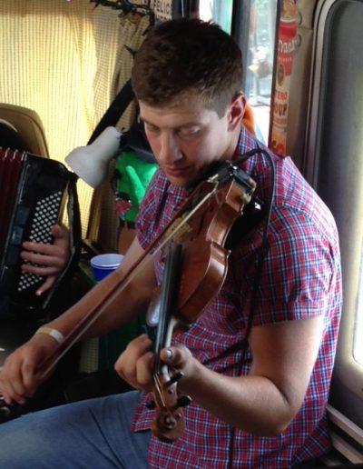 Headiest fiddler in the van to date.