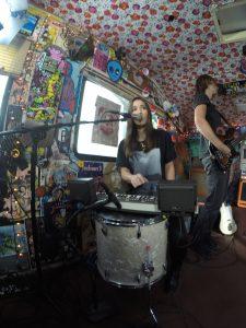 One girl one drum, albeit a big drum.