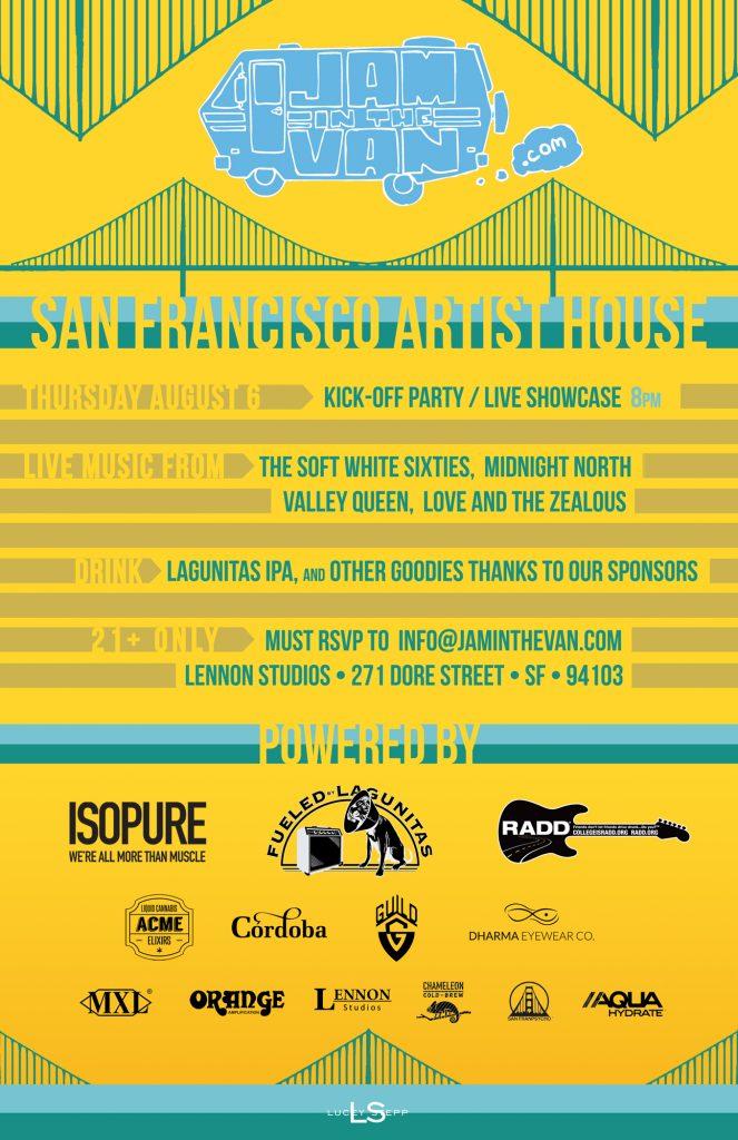 Jam Van Outsidelands Poster V10 Kickoff Party