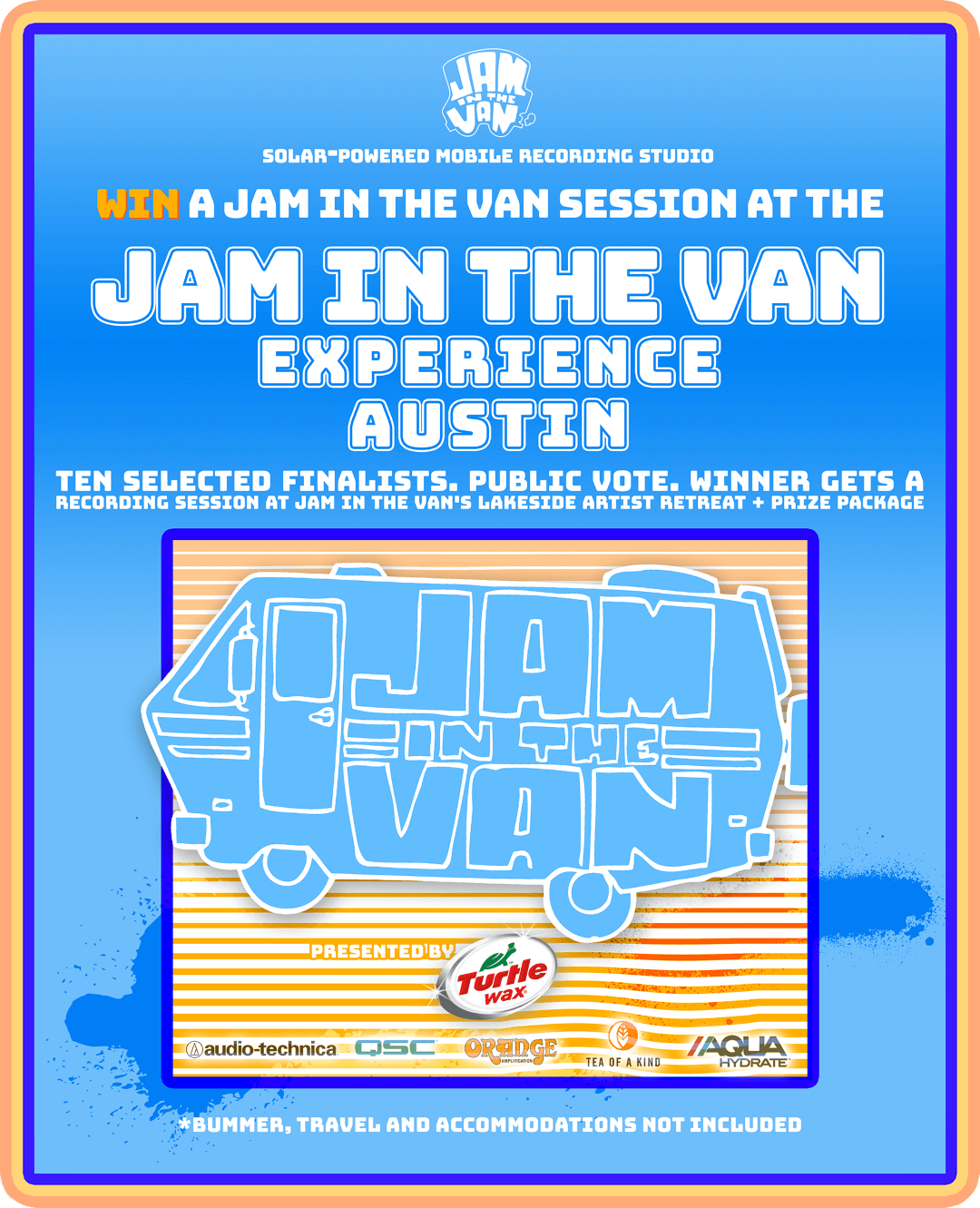 Jam in the Van Experience: Austin Contest Poster